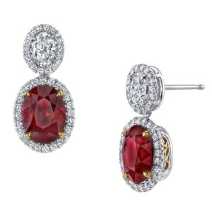 OmiGems Diamond and Ruby Earrings