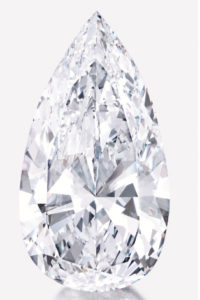 74.79 carat pear-shaped diamond
