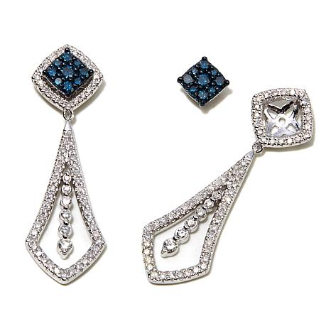 1ctw-blue-and-white-diamond-interchangeable-drop-earrings